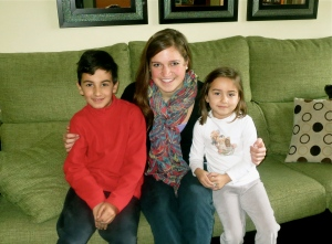 With Adrián and Sara, two of the cutest kids in Spain!